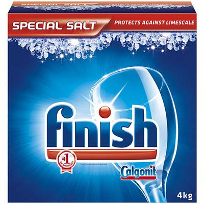 Большая выгодная упаковка соли Финиш 4 кг для посудомоечной машины