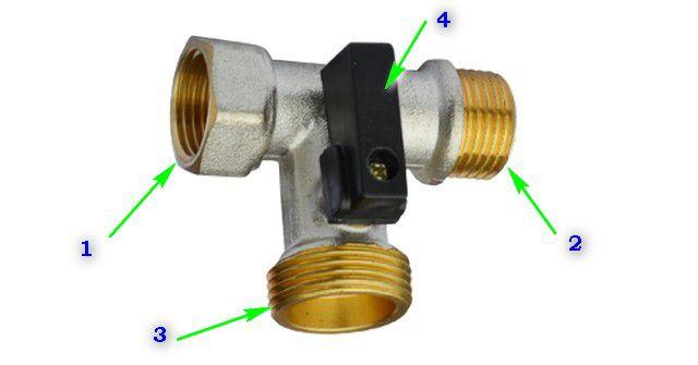 Для подключения посудомоечной воды к водопроводу используется тройник с запором