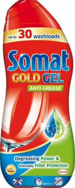 Импортный гель Сомат Голд для мытья посуды в посудомоечной машине в большой упаковке