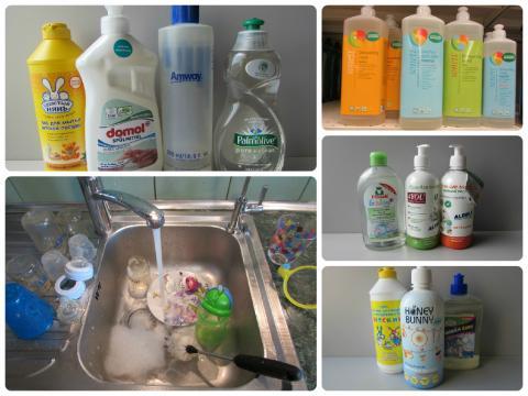Ассортимент моющих средств, которые предназначены для мытья детской посуды руками и ПММ