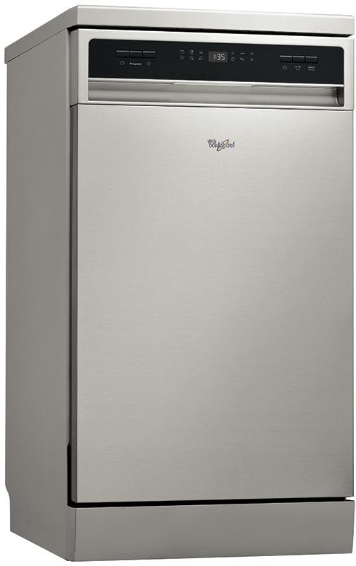 Узкая посудомоечная машина Whirlpool ADPF 872 IX в строгом стиле со фронтальной панелью задач