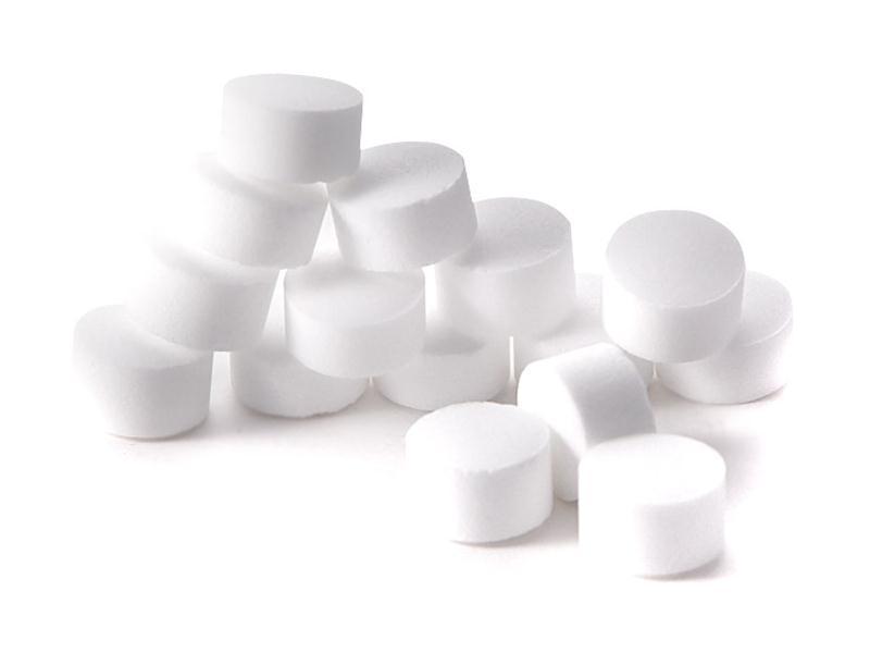 Использование таблетированной поваренной соли класса экстра в посудомоечных машинах
