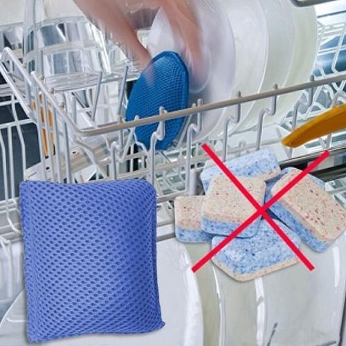 Производитель наномешочков советуют класть его в лоток вместе с посудой вместо других средств