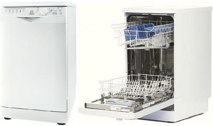 Частичновстраиваемая посудомоечная машина Индезит с двухуровневым бункером