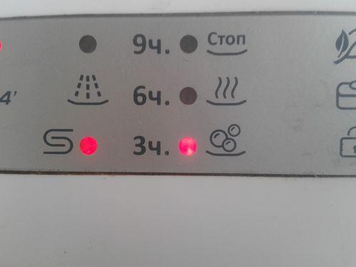 Индикатор посудомоечной машины сообщает об отсутствии соли в специальном отсеке для смягчения воды