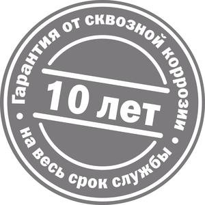 Наклейка с гарантией от сквозной коррозии на посудомоечные машины Бош
