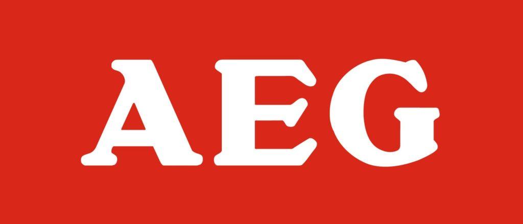 Логотип компании AEG производящей посудомоечные машины немецкого качества