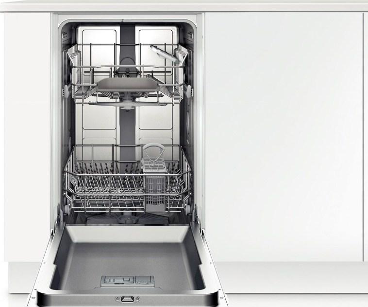 Узкая встраиваемая посудомоечная машина с двумя уровнями загрузки посуды для мытья