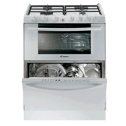 Модель многофункциональной техники Канди три в одном с газовой плитой, духовым шкафом и посудомойкой
