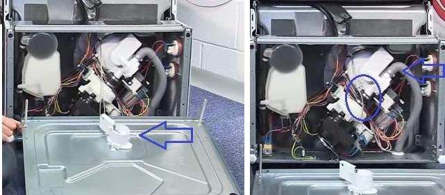 Разбор посудомоечной машины Бош при возникновении ошибки со снятием поддона