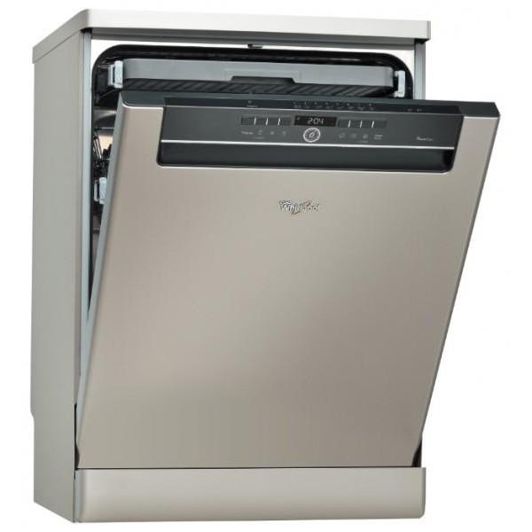 Полноразмерная посудомоечная машина от компании Вирпул с двухцветным элегантным дизайном