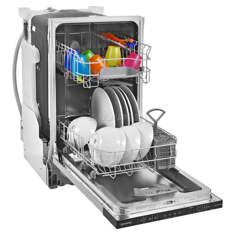 Вместительная полновстраиваемая посудомоечная машина сименс шириной 45 см