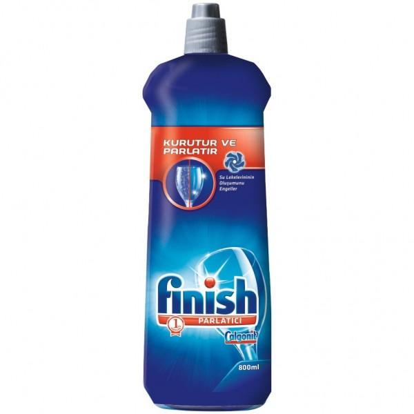 Бутылка ополаскивателя CalgonitFinish для посудомоечных машин является популярным средством