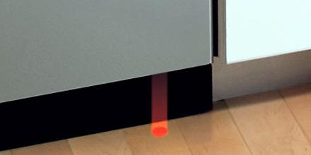 Некоторые модели посудомоечный машин имеют функцию оповещения в виде луча на полу