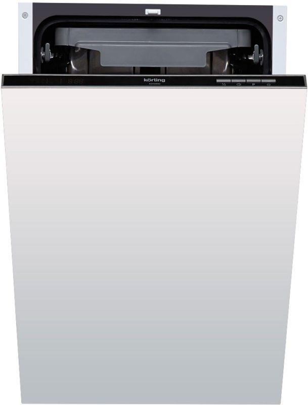 Стильная двухцветная посудомоечная машина Korting KDI 4550 со скрытой панелью задач