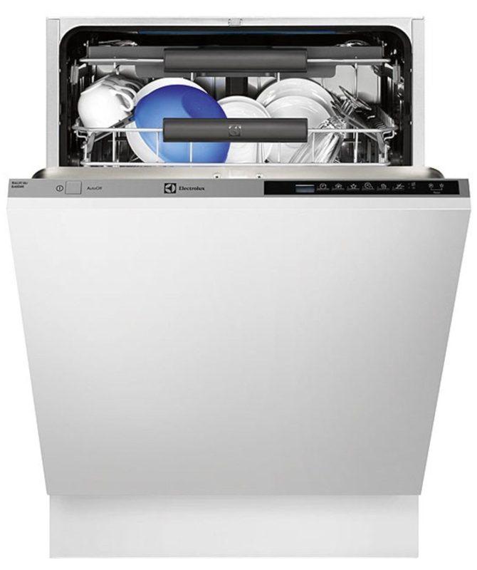 Полноразмерная бытовая посудомоечная машина с вариантом полной загрузки посуды