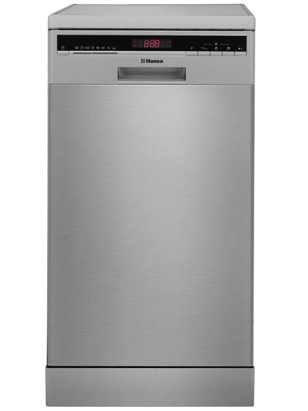 Модель узкой посудомоечной машины Hansa ZWM 428 IEH с выведенной фронтальной панелью задач