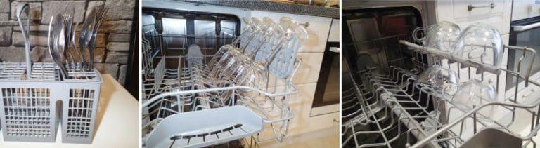 Правильное размещение стеклянной посуды и столовых приборов в посудомоечной машине