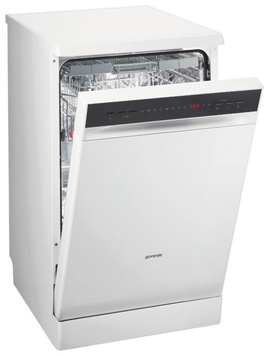 Узкая посудомоечная машина Gorenje GS53314W с электронной панелью задач на фронтальной части