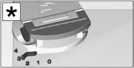 Регулятор для настройки дозирования специальной соли для посудомоечных машин