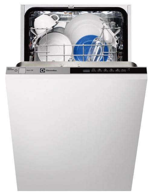 Встраиваемая узкая посудомоечная машина Electrolux ESL 94200 LO с панелью задач на торце дверцы