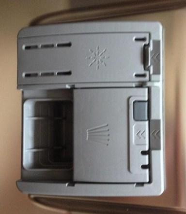 Удобный отсек для моющих средств для посудомойки с индивидуальной крышкой для каждого типа
