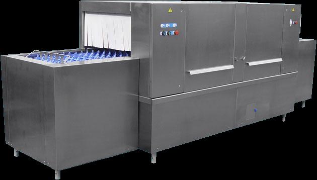 Непрерывная большая посудомоечная машина конвеер ММУ 1000М для столовых с большой посадкой