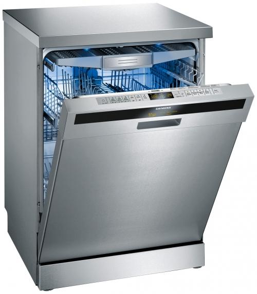 Вариант стильной посудомоечной машины с расширенным функционалом и спрятанной панелью задач