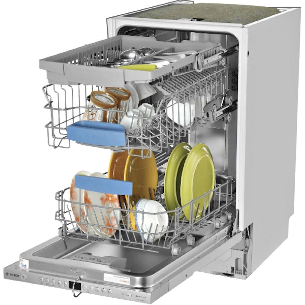 Полная загрузка посудомоечной машины стандартных размеров до 8 комплектов посуды