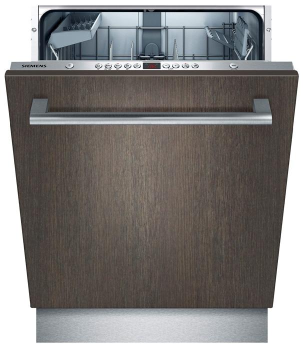 Полноразмерная модель посудомоечной машины Siemens SN 66MO94 с фасадом под темное дерево