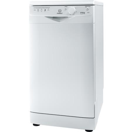 Отдельностоящая узкая посудомоечная машина Indesit DSR 15B3 со фронтальной панелью задач
