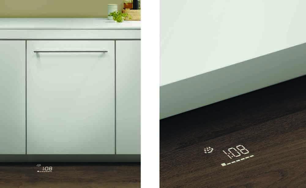 Посудомоечные машины Сименс оснащены датчиком оповещения окончания работы проекцией на полу