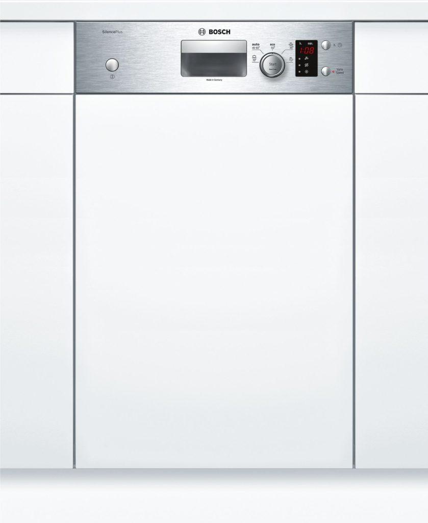 Посудомоечная машина Бош с дисплеем и панелью задач на лицевой стороне передней панели