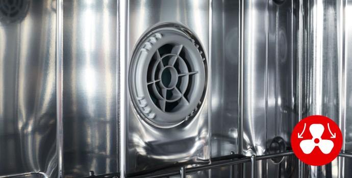 Встроенный вентилятор в посудомоечной машине при наличии режима сушки или турбосушки