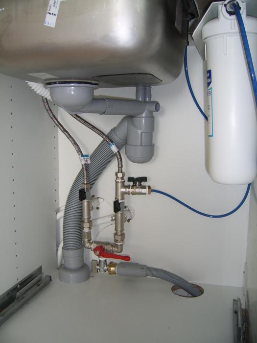 Организация правильного подключения посудомоечной машины к водопроводу на кухне под раковиной