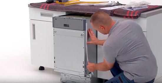 Инструкция для подготовки пространства и самостоятельной установки посудомоечной машины