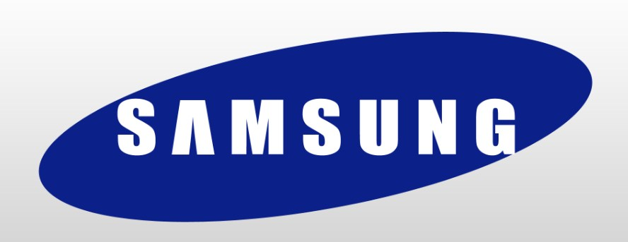 Логотип всемирноизвестной компании Самсунг по производству холодильников и других бытовых приборов