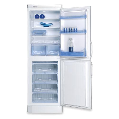 Холодильник ARDO Combi No Frost COF 34 SAE с большой морозильной камерой и синими дизайнерскими элементами