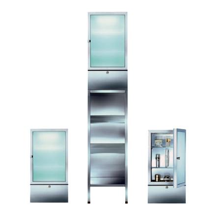Вариант расположения промышленного холодильника для хранения косметических средств на весу и на полу