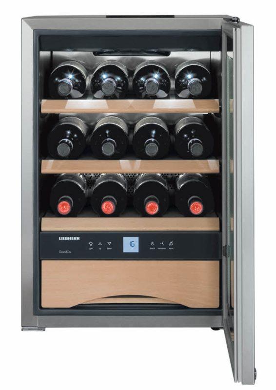 Компактная модель винного шкафа Liebherr WKes 653 Grand Cru для 12 бутылок с температурным режимом