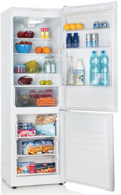 Правильное размещение продуктов питания в двухкамерном холодильнике Канди CKBF 6180 W