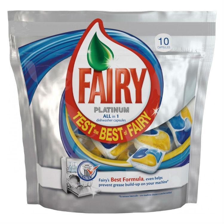 Гарантирую безопасность при мытье посуды производители таблеток Fairy Platinum для посудомоечной машины