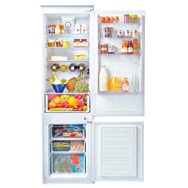 Модель двухкамерного холодильника Канди CKBC 3350 E с нижней морозилкой и наличием большого отделения