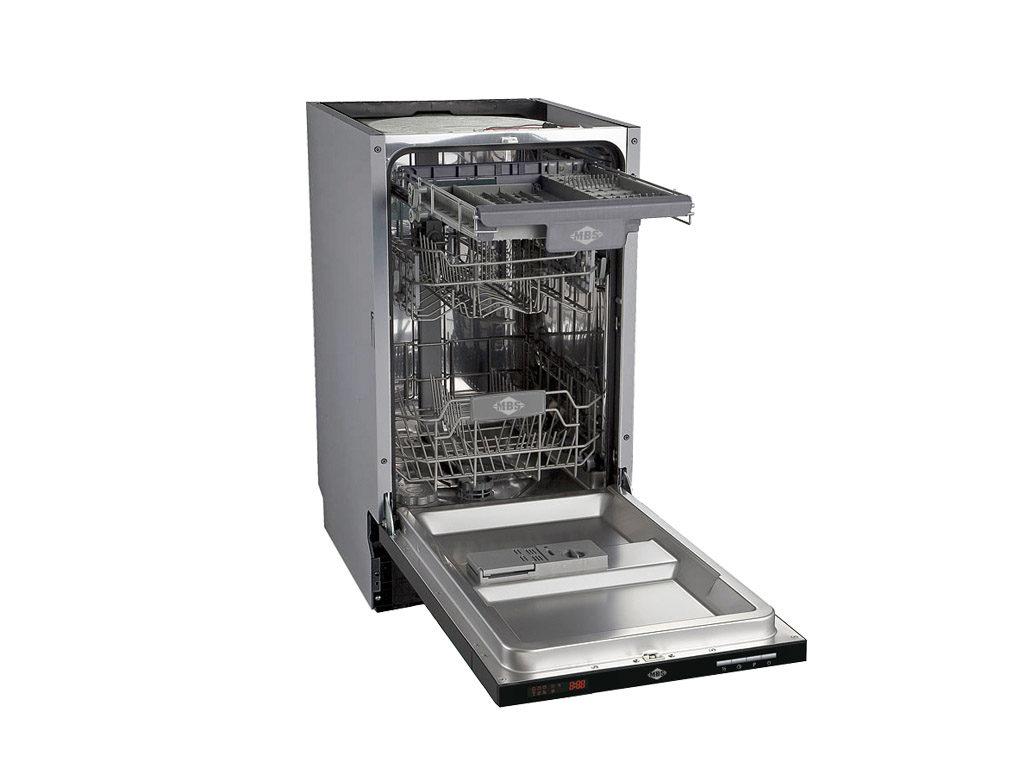Модель посудомоечной машины MBS DW-451 имеет три уровня лотков и множество программ для мытья