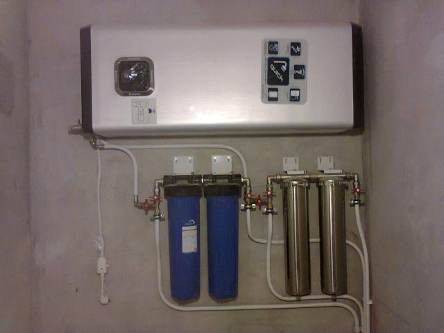 Система фильтрации на входе в бойлер