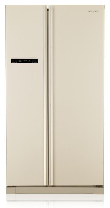 Высокотехнологичный двухдверный холодильник Самсунг с высокой морозилкой и основным отделением