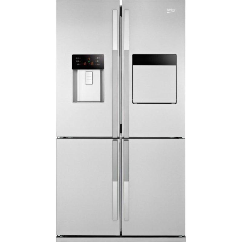 Большой двухдверных холодильник Беко GNE 134620 X с высокой морозилкой и функцией подачи холодных напитков