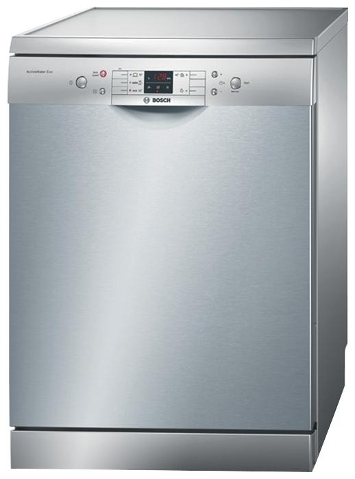 Стильная в цвете металла посудомоечная машина Bosch SMS 53N18 со фронтальной панелью задач