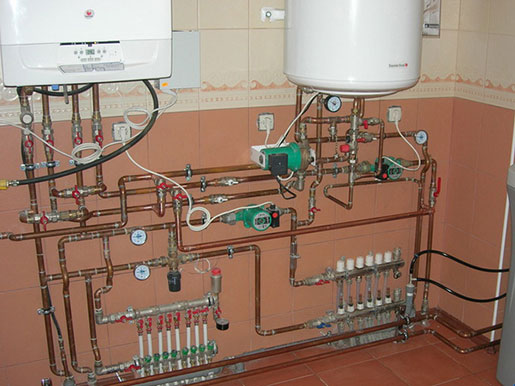 Монтаж обвязки водонагревателя