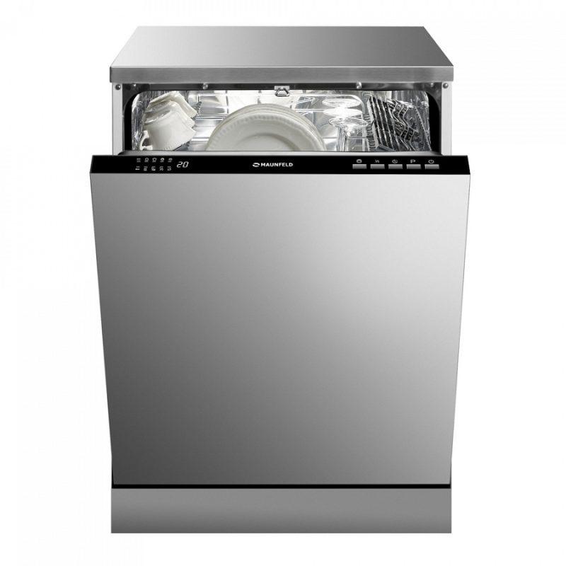 Стильная современная посудомоечная машина MAUNFELD MLP-12B стандартных размеров и глубиной 54 см